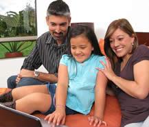 family-at-computer