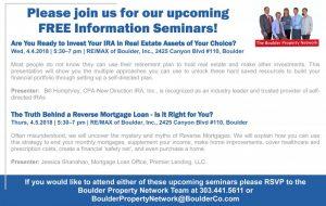Upcoming Free Real Estate Information Seminars!