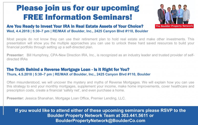 Upcoming Free Real Estate Information Seminars!